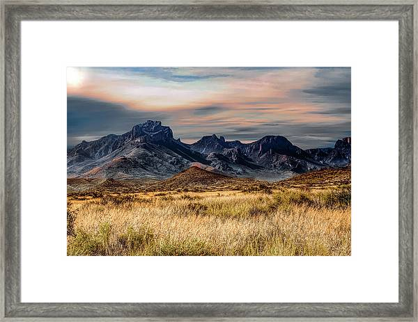 Big Bend Hill Tops Framed Print