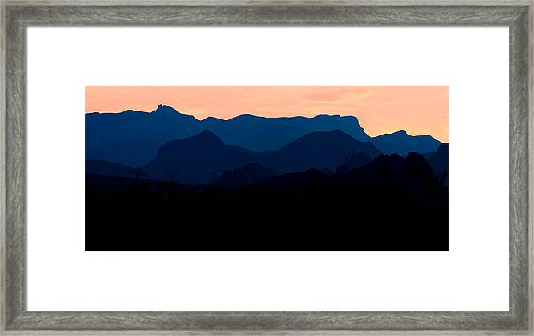 Big Bend Orange Blue Layers Framed Print