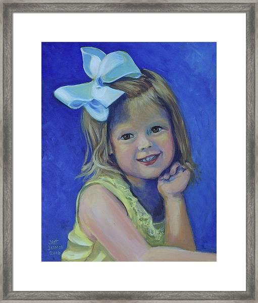 Big Bow Little Girl Framed Print