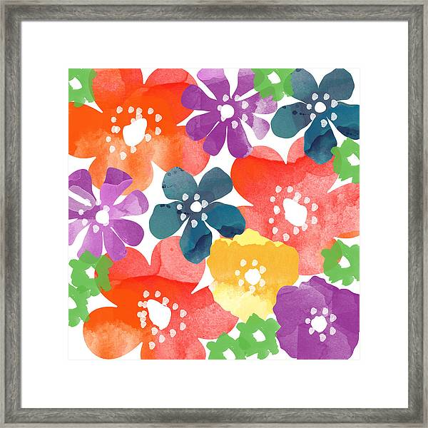 Big Bright Flowers Framed Print