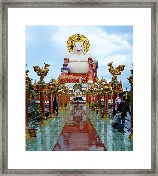 Big Buddha Framed Print