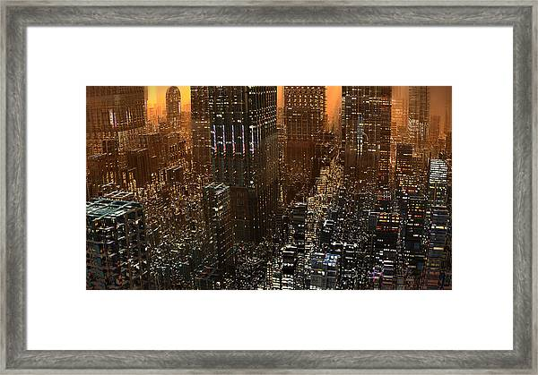 Big City Sunset Framed Print