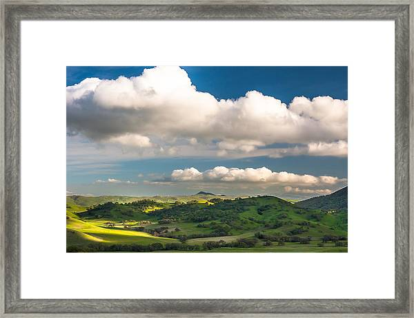 Big Clouds Over The Round Valley Framed Print