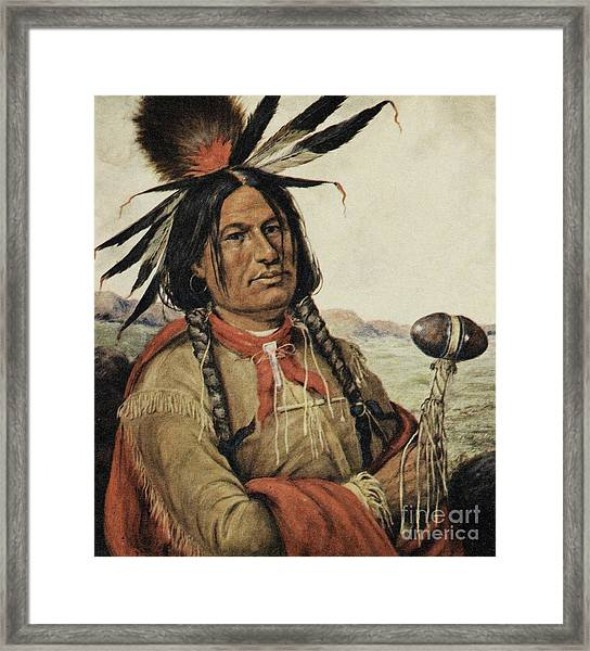 Big Foot, Chieftain Of The Hunkpapa Sioux Framed Print