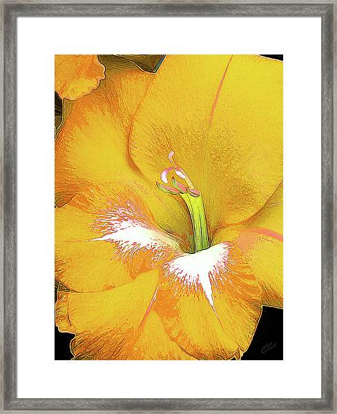 Big Glad In Yellow Framed Print