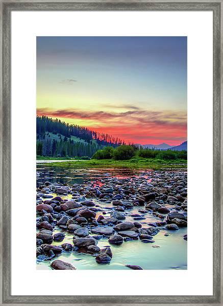 Big Hole River Sunset Framed Print