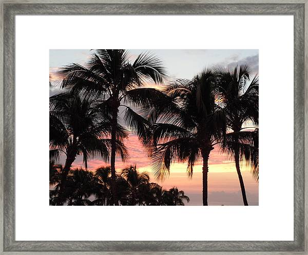 Big Island Sunset 1 Framed Print