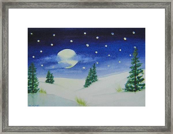 Big Moon Christmas Framed Print