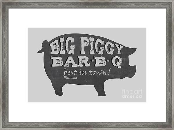 Big Piggy Bar B Q  Framed Print