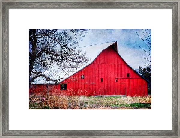 Big Red Barn Framed Print