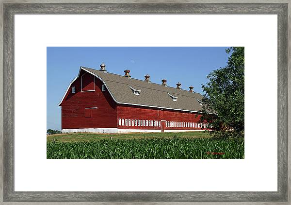 Big Red Barn In Spring Framed Print