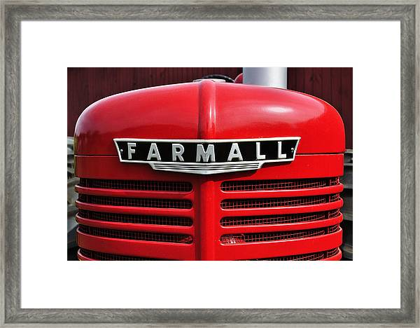 Big Red Farmall Framed Print
