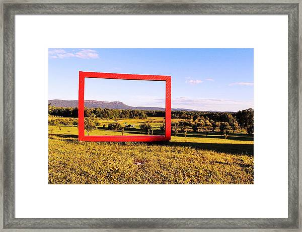 Big Red Frame Easthampton Framed Print