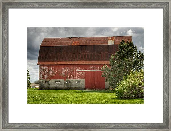 0005 - Big Red Iv Framed Print