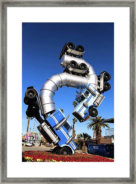 Big Rig Jig Balancing In Vegas Framed Print