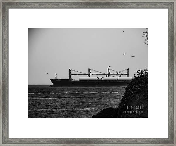 Big Ship Framed Print