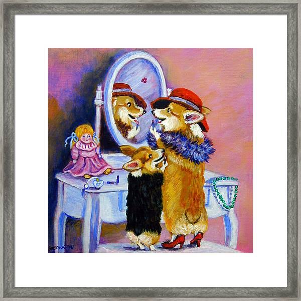 Big Sis Little Sis Framed Print by Lyn Cook