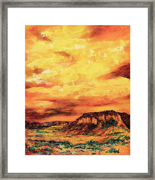Big Sky At Capital Reef Framed Print