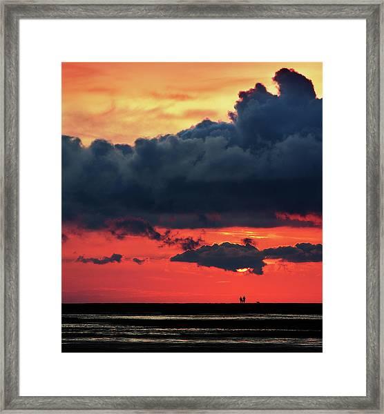 Big Sky In Norfolk Framed Print