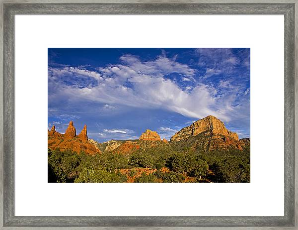 Big Sky Red Earth Framed Print
