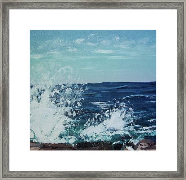 Big Splash At Schoodic Point Framed Print