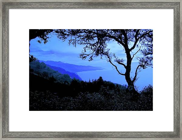 Big Sur Blue, California Framed Print