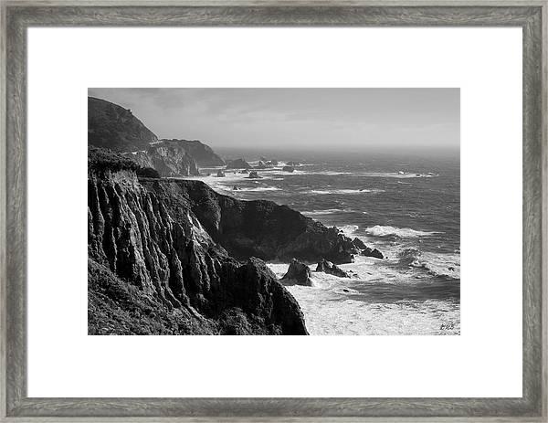 Big Sur Coast Bw  Framed Print