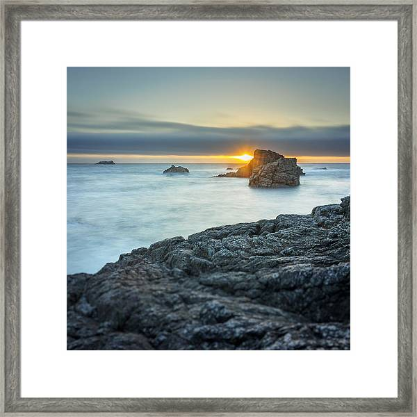 Big Sur Seascape Framed Print by Steve Spiliotopoulos