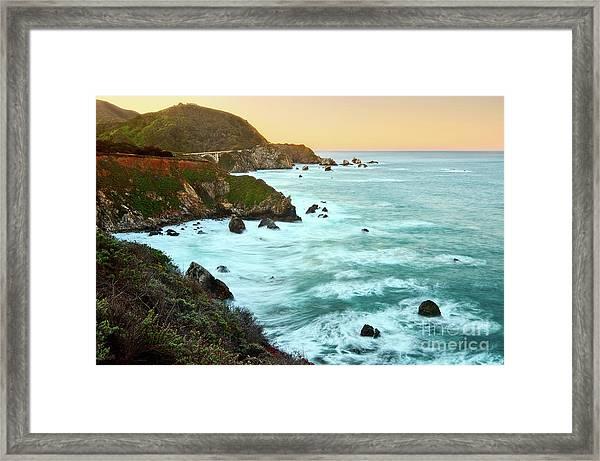 Big Sur Sunrise Framed Print