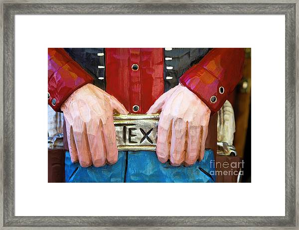 Big Tex Framed Print