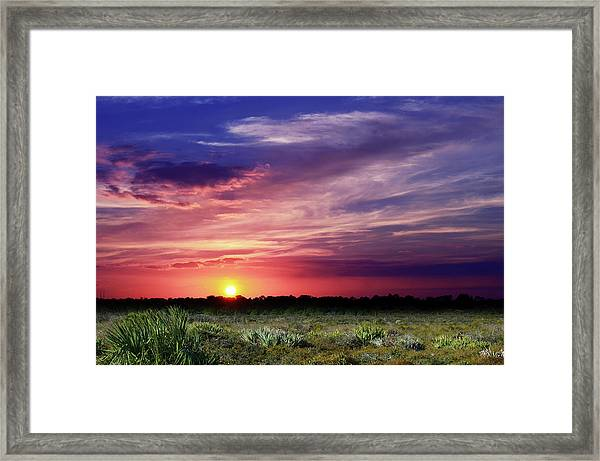 Big Texas Sky Framed Print