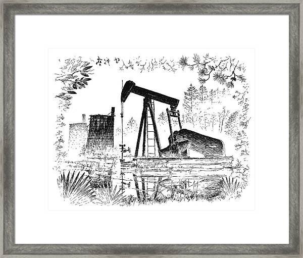 Big Thicket Oilfield Framed Print