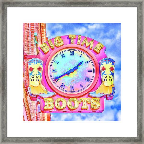 Big Time Boots - Nashville Hot Pink Framed Print