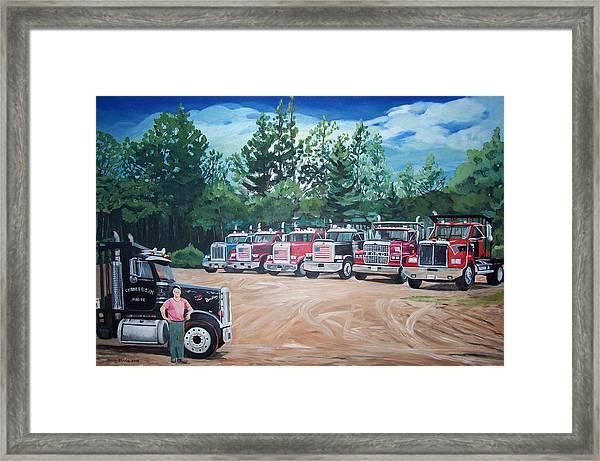 Big Trucks Framed Print