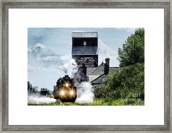 Big Valley Steam Framed Print