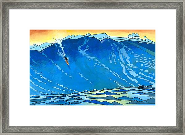 Big Wave Framed Print