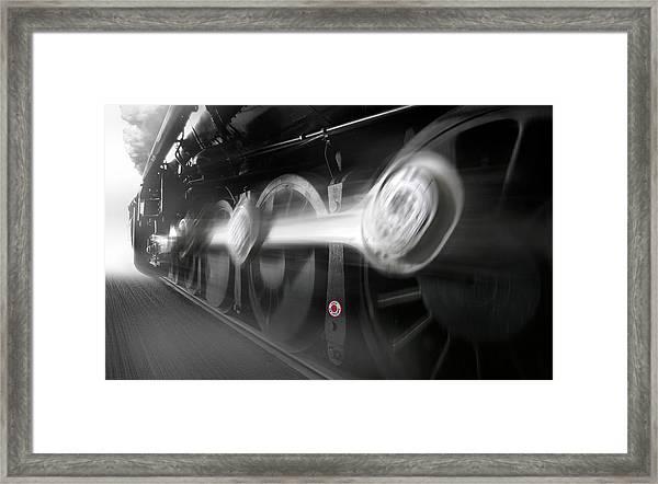 Big Wheels In Motion Framed Print
