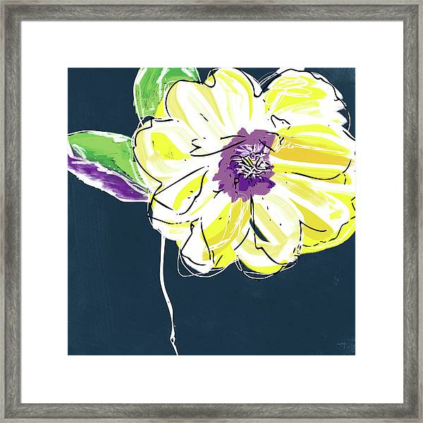 Big Yellow Flower- Art By Linda Woods Framed Print