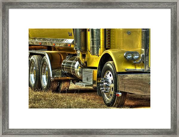 Big Yellow Truck Framed Print