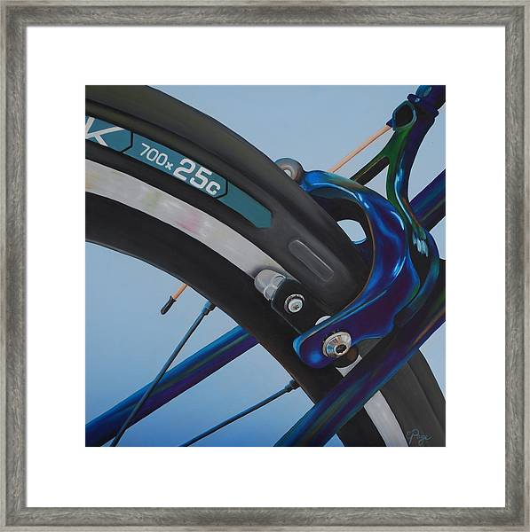 Bike Brake Framed Print