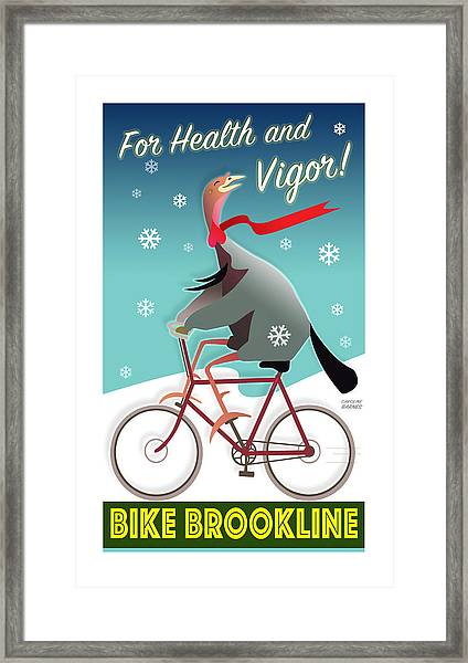 Bike Brookline Framed Print