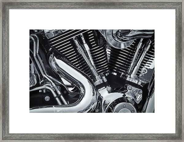 Bike Chrome Framed Print
