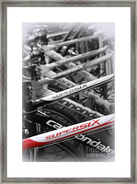Bike Frames Framed Print