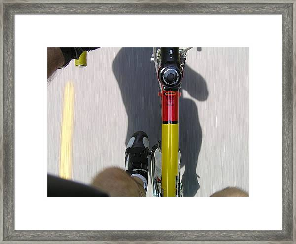 Bike Perspective Framed Print