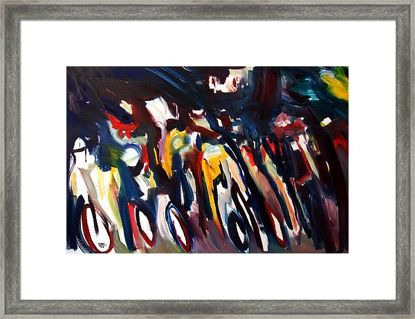 Bike Race Energy Framed Print