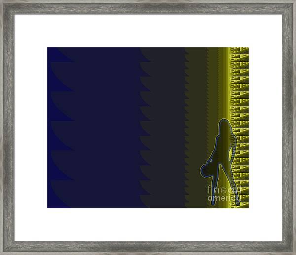 Biked Woman Framed Print
