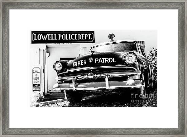 Biker Patrol Framed Print
