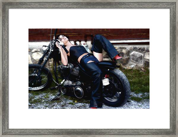 Bikes And Babes Framed Print