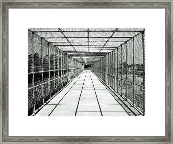 Biking Bridge Framed Print