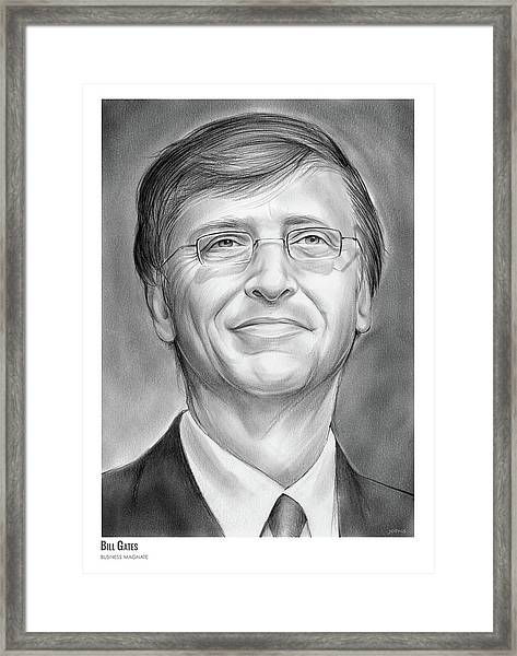 Bill Gates Framed Print